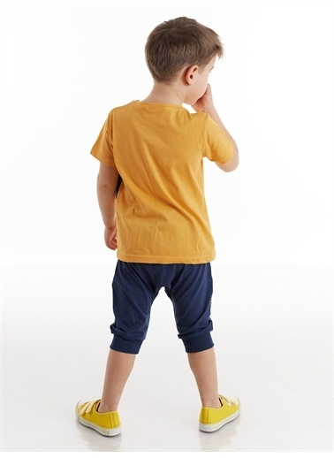 Denokids Kepçe Erkek Çocuk Kapri Takım Renkli